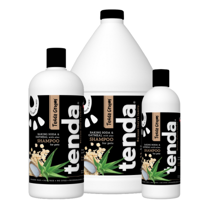 Tenda Equine & Pet Care Baking Soda & Oatmeal Shampoo for dogs.