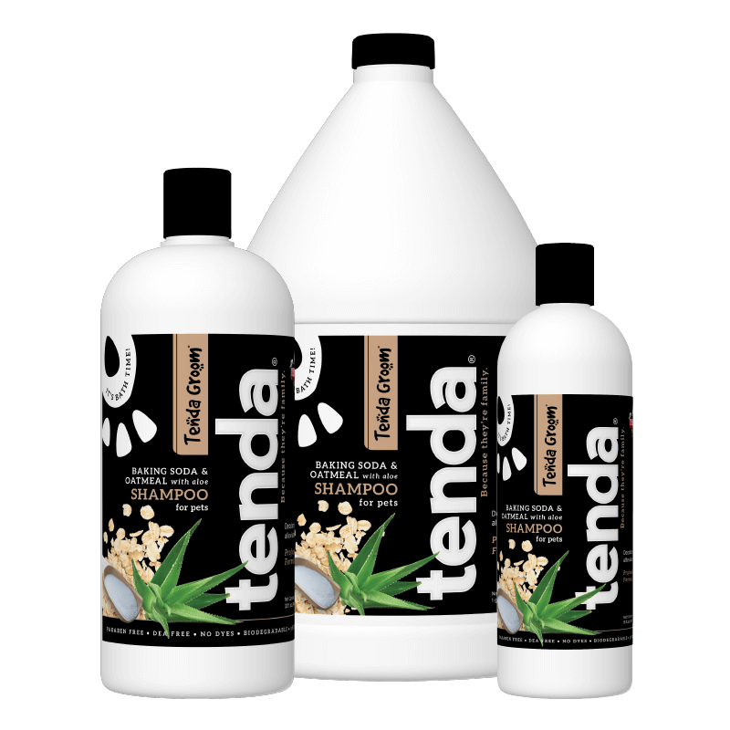 Tenda Equine & Pet Care Baking Soda & Oatmeal Shampoo for dogs.