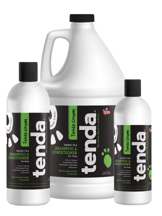 Tenda Equine & Pet Care Green Tea Shampoo & Conditioner for dogs.