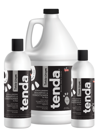 Tenda Equine & Pet Care Hypoallergenic Shampoo & Conditioner for dogs.