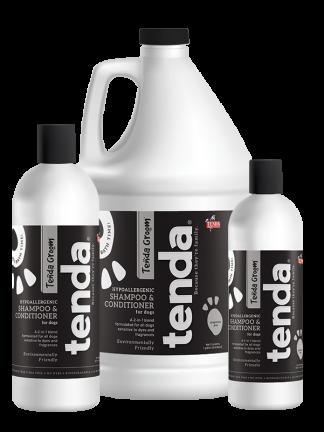 Tenda Equine & Pet Care Hypoallergenic Shampoo & Conditioner for dogs.