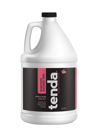 Tenda Equine & Pet Care Topical Commodity Isopropyl Alcohol 70%, aches and pains relief.