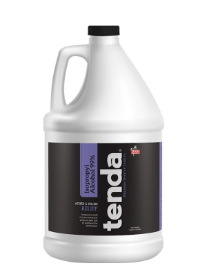 Tenda Equine & Pet Care Topical Commodity Isopropyl Alcohol 99%, aches and pains relief.